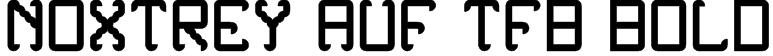 Noxtrey Auf tfb bold Font