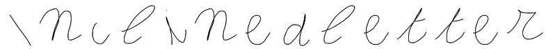 Inclinedletter Font