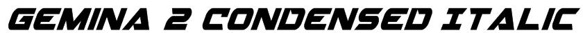 Gemina 2 Condensed Italic Font