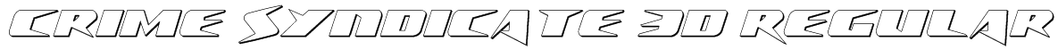 Crime Syndicate 3D Regular Font