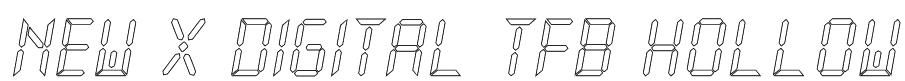 New X Digital tfb Hollow Font