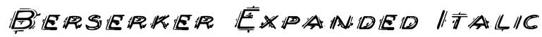 Berserker Expanded Italic Font