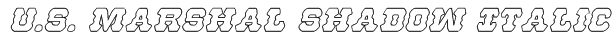U.S. Marshal Shadow Italic Font