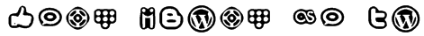 Social Media Icons Bold Font