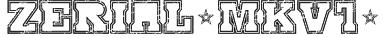 SERIAL-MKV1- Font