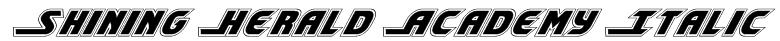 Shining Herald Academy Italic Font