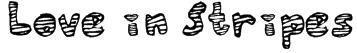 Love in Stripes Font