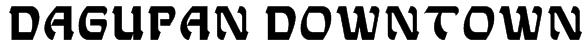 Dagupan Downtown Font