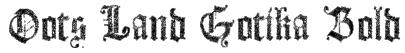 Dots Land Gotika Bold Font