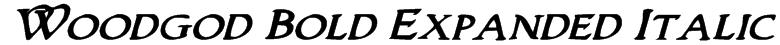 Woodgod Bold Expanded Italic Font