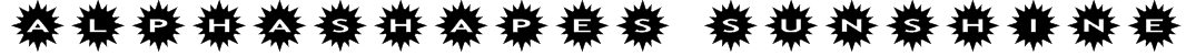 AlphaShapes sunshine Font