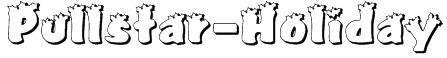 Pullstar-Holiday Font