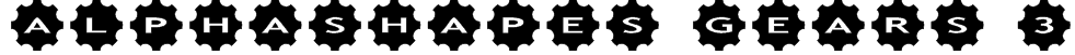 AlphaShapes gears 3 Font