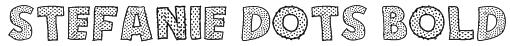 Stefanie Dots Bold Font