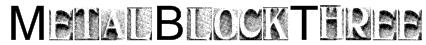 MetalBlockThree Font