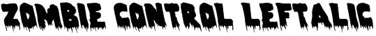 Zombie Control Leftalic Font