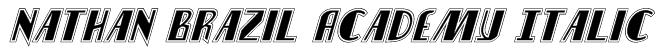 Nathan Brazil Academy Italic Font