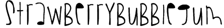 StrawberryBubblegum Font