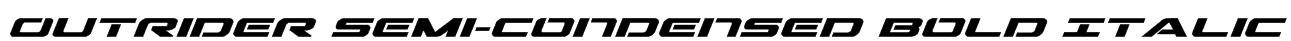 Outrider Semi-Condensed Bold Italic Font