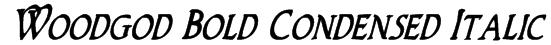 Woodgod Bold Condensed Italic Font