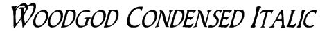 Woodgod Condensed Italic Font