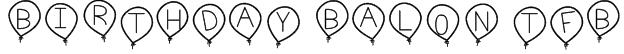 birthday balon tfb Font