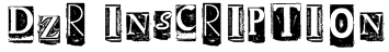 DZR INSCRIPTION Font