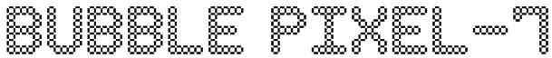 Bubble Pixel-7 Font