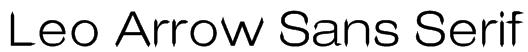 Leo Arrow Sans Serif Font