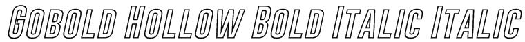 Gobold Hollow Bold Italic Italic Font