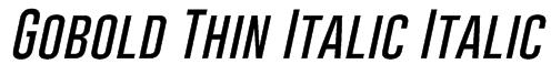 Gobold Thin Italic Italic Font