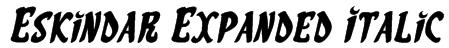 Eskindar Expanded Italic Font