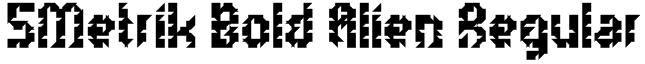 5Metrik Bold Alien Regular Font