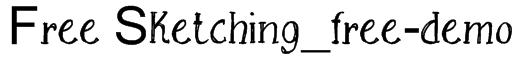 Free Sketching_free-demo Font