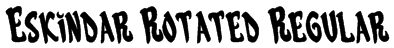 Eskindar Rotated Regular Font