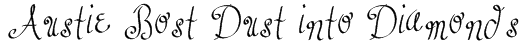Austie Bost Dust into Diamonds Font