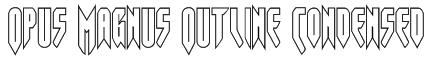 Opus Magnus Outline Condensed Font