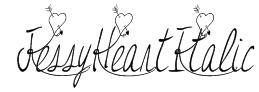 JessyHeartItalic Font