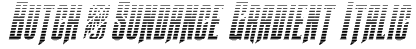 Butch & Sundance Gradient Italic Font