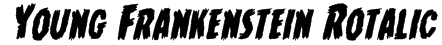 Young Frankenstein Rotalic Font