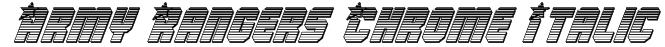 Army Rangers Chrome Italic Font