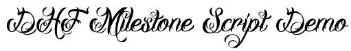 DHF Milestone Script Demo Font