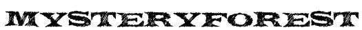 MysteryForest Font