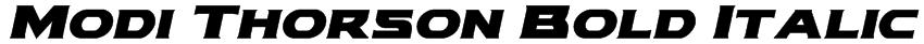 Modi Thorson Bold Italic Font