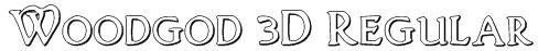 Woodgod 3D Regular Font