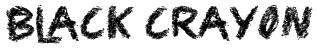 Black Crayon Font