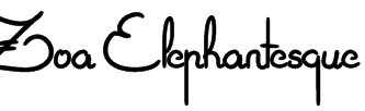 Zoa Elephantesque Font