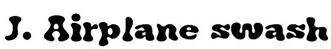 J. Airplane swash Font