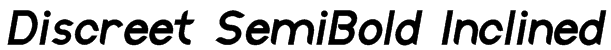Discreet SemiBold Inclined Font