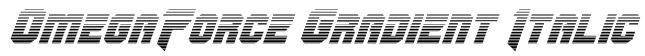 OmegaForce Gradient Italic Font